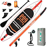 FunWater Stand Up Paddle Board 11'x33''x6'' Ultra-Light (20.4lbs) Inflatable Paddleboard with ISUP Accessories,Three Fins,Adj