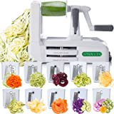 Spiralizer Ultimate Only 7-Blade Vegetable Slicer Strongest Heaviest Duty Veggie Pasta Spaghetti Maker for Healthy Low Carb/P