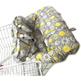 Shopping Cart Cover for Baby- 2-in-1 - Foldable Portable Seat with Bag for Infant to Toddler - Compatible with Grocery Cart S