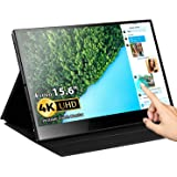 Portable Touch Monitor, Eyoyo 15.6 inch 4K USB C Monitor Touchscreen UHD 3840x2160 10-Point Touch USB C HDMI Laptop Display G