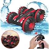 Gifts for 5-12 Year Old Boys Pussan Amphibious Remote Control Car for Kids and Adults 2.4 GHz RC Stunt Car for Boys Girls 4WD