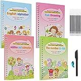 Magic Copybook for Kids | Magic Practice Copybook English | Magic Calligraphy That Can Be Reused Handwriting Copybook Set | L