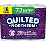 Quilted Northern Ultra Plush Toilet Paper, 18 Mega Rolls, 18 = 72 Regular Rolls, 3 Ply Bath Tissue