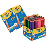 BIC Kids Evolution ECOlutions Colouring Pencils - Assorted Colours, Classpack of 288 Coloured Pencils Set