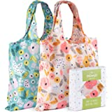 Momiji Premium Reusable Grocery Shopping Bags - Features European Artists - Certified Recycled Polyester - Foldable & Eco-Fri