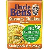 Uncle Ben's Savoury Chicken Flavour Rice, 6 x 250g