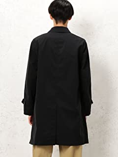 Polyester Balmacaan Coat 3225-139-2352: Black