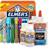 ELMERS 2024015 Elmer's Slime Starter Kit, Clear School Glue, Glitter Glue Pens and Magical Liquid Activator Solution, 9 Count