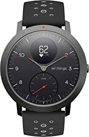Withings Steel HR Sport Smartwatch (40mm) - Activity Tracker, Heart Rate Monitor, Sleep Monitor, GPS, Water Resistant Smart W