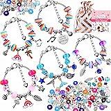 85 Pcs Charm Bracelet Making Kit, Acejoz DIY Charm Bracelets Beads for Girls Ages 7~12, Adults and Beginner Jewelry Making Ki