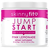 SkinnyFit Jump Start Pre Workout Supplement for Women 30 Servings - Creatine Free Powdered Mix Drink to Help Increase Energy,