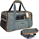 Mr. Peanut's Airline Approved Soft Sided Pet Carrier, Luxury Travel Tote with Premium Self Locking Zippers, Plush Faux Fleece