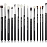 Jessup 15Pcs Professional Makeup Brushes Set Make up Brush Tools kit Cosmetics Tools Eye Liner Shader Wood Handle Natural-syn