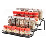 MEIQIHOME 4 Tier Spice Rack Organizer Step Shelf Countertop Spice Storage Holder, for Kitchen Cabinet Cupboard Pantry, Metal,