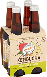 NEXBA Apple PEAR & Ginger Kombucha 330ML (24 Pack)