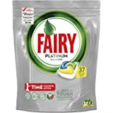 Fairy All in One Platinum Lemon Dishwasher Tablets, 37 Capsules