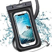 TORRAS 防水ケース 水に浮く IP68認証 クリア 顔認証 撮影 通話 画面操作 浮き輪 iPhone 12 Pr…