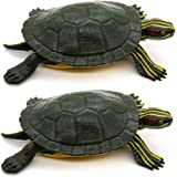 AUEAR, Realistic Plastic Toy Figurines Lifelike Animal for Boys and Girls Education Party Favor Decoration (Red-Eared Slider
