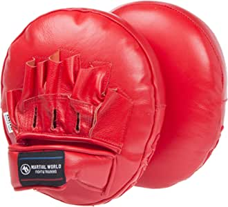 マーシャルワールド(MARTIAL WORLD) マルチパンチングミット PM68-RD 赤黒 縦25×横20×厚さ8cm