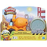 Play-Doh E4705 Wheels Mini Cement Truck Toy with 1 Can of Non-Toxic Play-Doh Cement Colored Buildin' Compound