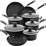 Circulon 83465 Acclaim Hard-Anodized Nonstick Cookware Set, 13-pc - Black