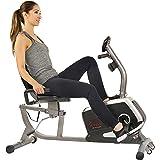 Sunny Health & Fitness Magnetic Recumbent Bike Exercise Bike, 300lb Capacity, Easy Adjustable Seat, Monitor, Pulse Rate Monit