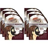 Palmer's Coconut Oil Formula Coconut Charcoal Detox Sheet Mask | 0.68 Ounces (Pack of 6)