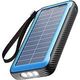 Anker PowerCore Solar 20000 (ソーラーモバイルバッテリー 20000mAh 超大容量)【ソーラーチャージャー / 防塵/防水 / IP65対応 / フラッシュライト搭載 / USB-Cポート搭載 /PSE技術基準適合】iP