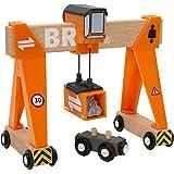 Brio 33732 Gantry Crane, 4 Pieces Train Set