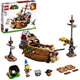LEGO 71391 Super Mario Bowser's Airship Expansion Set, Collectible Buildable Game Toy for Kids with 3 Figures