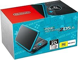 New Nintendo 2DS XL Console Black Blue