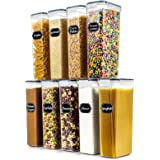 Airtight Food Storage Containers Set of 9 - Wildone BPA Free Cereal & Dry Food Storage Containers 2.8L / 11.83 cups for Sugar