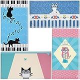 マスクケース 抗菌 携帯用 4枚セット 日本製 おしゃれ かわいい ねこ 猫柄 ピアノ アマビエ 持ち運び こども レディース プレゼント ギフト 猫の友社 ファイル 不織布マスク