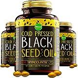 MAJU's Black Seed Oil Capsules - Cold Pressed, 2% Thymoquinone, 100% Turkish Black Cumin Nigella Sativa Seed Oil, Organic BSO