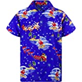 Hawaiian Shirt for Men Funky Casual Button Down Very Loud Shortsleeve Christmas Unisex X-Mas Mix