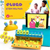 Shifu Plugo STEM Pack - Count, Letters & Link | Math, Word Building, Magnetic Blocks, Puzzles & Games | Ages 5-10 Years Inter