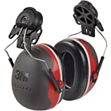 3M Peltor X-Series X3P3E Cap-Mount Earmuffs, NRR 25 dB, One Size Fits Most, Black/Red X3P3E (Pack of 1)
