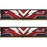 TEAMGROUP T-Force Zeus DDR4 64GB Kit (2 x 32GB) 3200MHz (PC4 25600) CL20 Desktop Gaming Memory Module Ram - TTZD464G3200HC20D