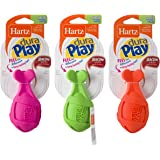 Hartz Dura Play Bacon Scented Rocket Dog Toy, Small (Colors may vary)