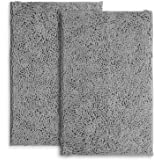 LuxUrux Bathroom Rug Mat Set–Extra-Soft Plush Bath mat Shower Bathroom Rugs 16 x 24 inch Set,1'' Chenille Microfiber Material