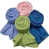 MANSHU Women Soft Chiffon Scarves Shawl Long Scarf Wrap Scarves. - -