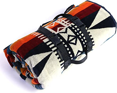 [ペンドルトン]PENDLETON Towels For Two タオル フォー トゥー ブランケット Fire Legend Sunset マルチカラー 157cm×177cm XB242-55097 [並行輸入品]