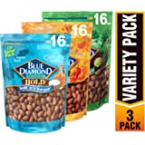 Blue Diamond Almonds BOLD Favorites Variety Pack - Salt 'n Vinegar, Habanero BBQ, & Wasabi & Soy Sauce, 16 Ounce BOLD Variety