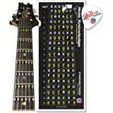 Learn Guitar Fretboard Note Map Decals/Stickers