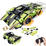 GAMZOO STEM Building Toys for Kids with 2-in-1 Remote Control Racer Snap Together Engineering Kits Early Learning Racecar Bui