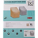 Protective Covers Weatherproof Wicker Chair Cover, Large, Gray - 1120