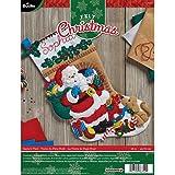 Bucilla 86702 Felt Applique Stocking Kit Santa's Visit, Size 18-Inch