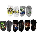 Mario Boys 5 Pack No Show Socks