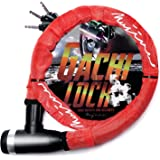 (ムジナ) mujina バイクロック 22mm×1200mm 鍵3本セット ワイヤーロック