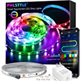LED Strip Lights 32.8FT,Bluetooth Wireless Smart Phone APP Controlled 5050 RGBIC Led Light Strips with Segmented Color Pickin
